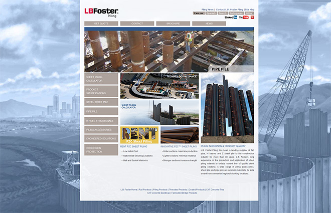 L.B.Foster Sheet Pile & Piling Products