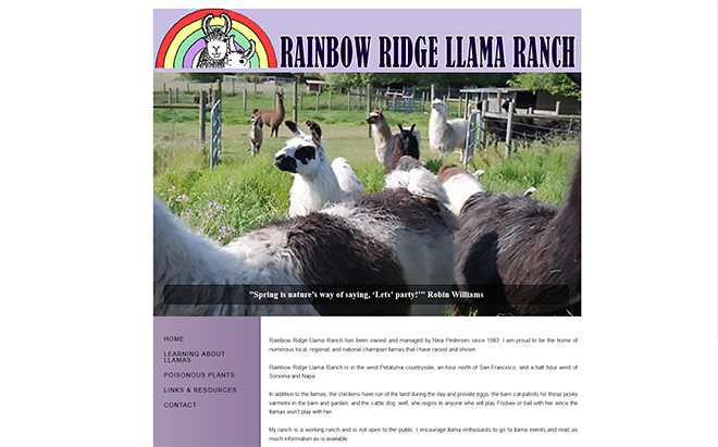 Rainbow Ridge Llama Ranch